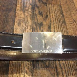 Dolce & Gabbana Brown Leather Belt